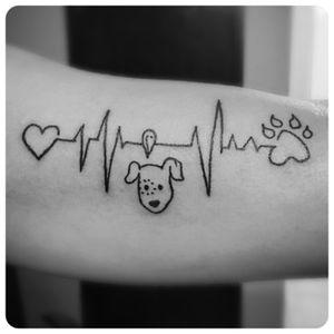 Animal lover ink!! 🐶 #vettech #animallover #lines #ink #inklegacytattoos