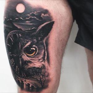 Owl tattoo #owl #animal #blackandgrey #tattoodo #inkjecta #wearesorrymom #killerinktattoo
