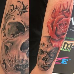 First proper ink 💉 #skull #roses #art #tattoo #talent #beautiful #girlwithink #girlwithtattoos #inked