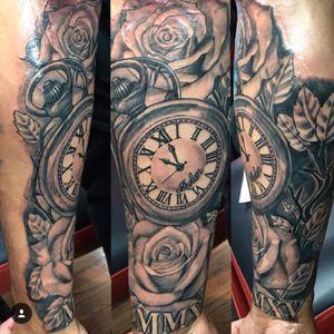 #clock #realism #rose #blackandgrey