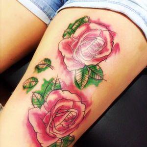Rose aquarela #aquarela #watercolor #rosa