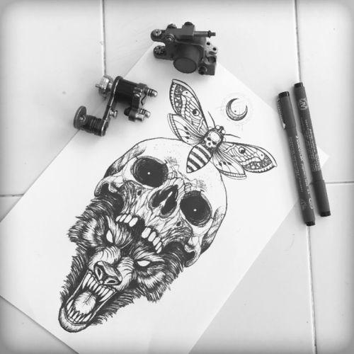 #sketch #sketchtattoo #tattoodo  @blacktattooing  #blacktattooing #blacktattoo #darkartists #dotwork #linework