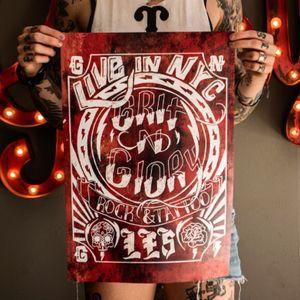 Grit N Glory, Poster Design.