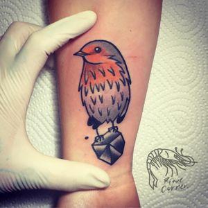 #riquecorner #bird #smalltattoo #oldschooltattoo #oldschool #traditional #traditionaltattoo #tattooartist #tattoooftheday