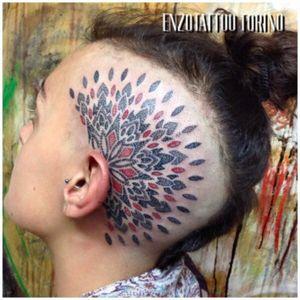Head tattoo by Enzotattoo via taggia 36 Torino info: enzota2family@gmail.com 3285505939 #HeadTattoos #headdotwork #dotwork #dotworkart #DotworkArtist #dotworkattoo #dotworkhead #mandala #mandala_tattoo #mandalaandflowers #mandaladotwork #mandalahead #tattoo #tattoo_art_worldwide #tattoo_artist #tattoos #tattoogallery #TattooGirl #colortatto