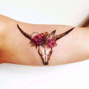 #skull#deerskull #flowers