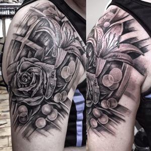 Done today... #turcotattooist #turcotattoostudio #turcotattoos #skincitytattoodublin #blackandgrayflower #Tattoodo #tattoodo