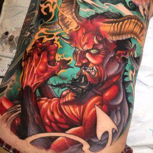 Devil front #goodguysupply #mithramfg #inkjecta #deviltattoo