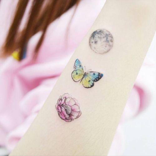 Delicate #flower #moon #butterfly