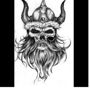 Nordic skull tattoo #megandreamtattoo
