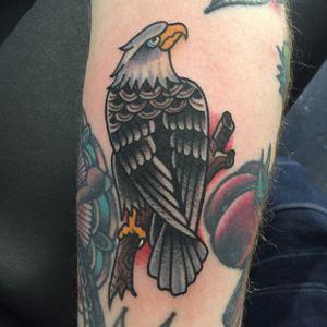 Eagle #traditional #traditionaltattoo #eagle #lovehatenewyork #tattoosbyrodrigocanteras