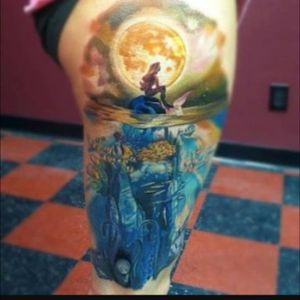 #megandreamtattoo Little mermaid is the one who saved me. Mythical or non mythical to others all is must contribute to the mind