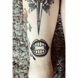 Halloween Tattoo #vampire#halloweentattoo#bnw