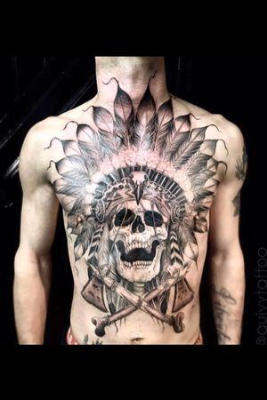 Guivy Hellcat - GENEVA 🇨🇭 #Guivy #Geneva #Geneve #switzerland #tattoo #chesttattoo #skull #indian #nativeamerican #skulltattoo #blackandgrey #blackandgreytattoo #cheyenne #artforsinners #chestpiece #chest #inked #realism #native #american #inspiration #chief #chieftattoo #swissmade #custom #design #tattoos #tatuaje #tatuagem #guivy #tatouage #tatoueur #convention