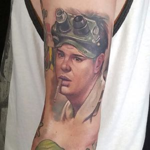 Ray Stantz Portrait added to my Ghostbusters sleeve. Cant wait till its finished! Ghostbusters sleeve tattoo by Halo Jankowski @ Black Lotus Tattoo Gallery Hanover, Maryland #Raystantz #Ghostbusters #Danaykroyd #portait #portaittattoo #Movie #celebrity #Tattoo #Ghostbustersfans #Ghostbusterstattoo