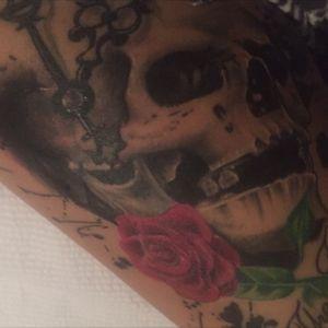 #skulltattoo#lovetheink#addicted#RoseHardy