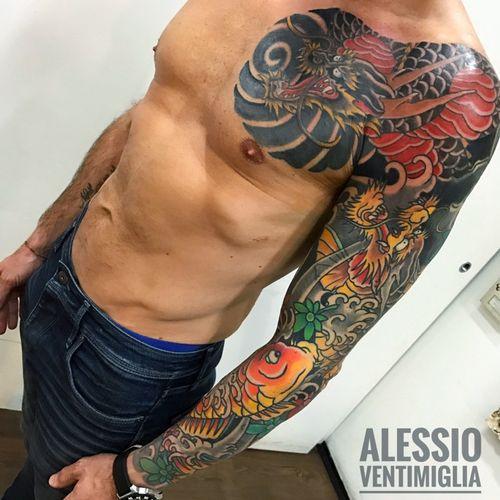@delight_tattoo_needles  #delightneedles #koi #tattoo #art #awesome #arm #color #great #horimono #ink #inked #instagram #instalike #iltatuaggio #irezumi #irezumicollective #japanese #japantattoo #kiku #new #oldschooltattoo #pic #wabori #reclaimthedots
