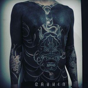 #gakkin #blackwork #bodysuit @gakkin #Japanesestyle