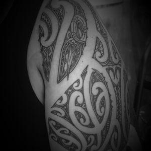 Shoulder add on with manaia #manaia #maori #guardian #tamoko