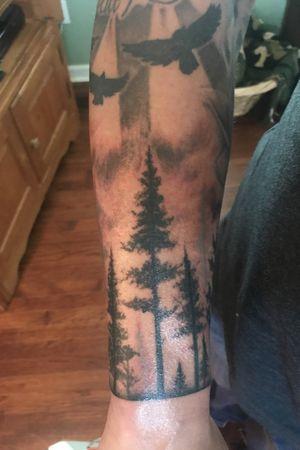 Finished my sleeve. #trees #treetattoos