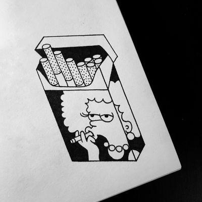 #арт #рисунок #картинка #тату #эскиз #татуировка #рисую #графика #sketch #graphictattoo #graphicdesign #design #picture #illustration #graphicarts #drawing #чб #sketchtattoo #калякималяки #dontsmoke #blakc #linework #line #blackandwhite #smokeart #simpsonsart #smoke #simpsons #niki_tattoo
