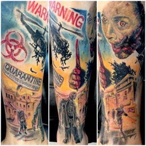 #sleeve #FullLegSleeve #terrortattoo #zombietattoo #zombie #evildead #alien