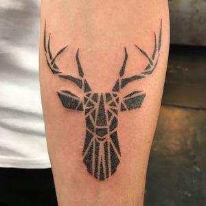 Elk head #dots #blackwork