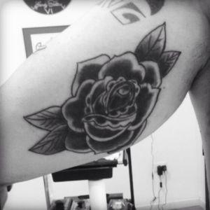 #CoverUpTattoos #tattoo #oldschool #rose #black