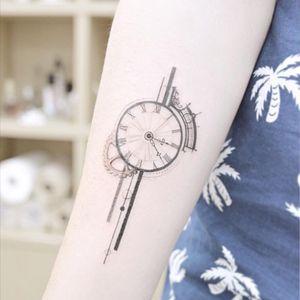 Girlie #compass #gadgets #time #travel #wanderlust #linework