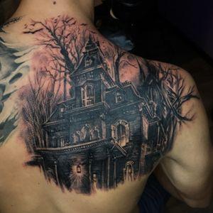 #coveruptattoo#castle#woods#moon#birdstattoo#realistictattoo#blackandgrey#greatartist#bugtattoo#amazingink#amazingartist