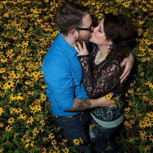 #EngagementPhoto #TattooedCouple #TattooedWedding #LarryRadloffPhotography