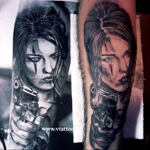 #chicano #ChicanoGirl #gorl #gun #armeniantattoo #inkedup