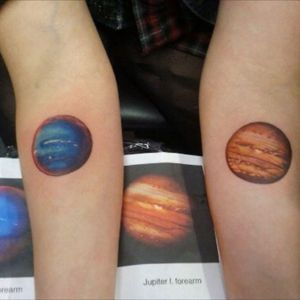 The photo is not mine #jupiter #neptune #planets #astronomy #astrology #color #orange #blue