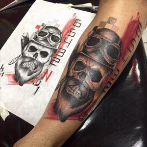 #trashpolka criate by: #wilhanssilva #kurtstattoo no #hearttattoo #motortattoo #tattoowork #bishoprotary #grupoamazon #tattoodo #thebesttattoo #thundercatrevolution #everlastink #everlastpigments #motoqueirotattoo #skulltatoo