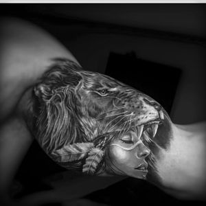 Found on instagram as evilkolors This is AMAZING! Great work! #lion #portriat #indian