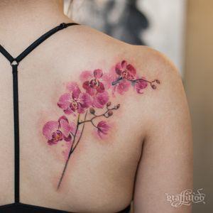 Orchid flowers in watercolor style :) #watercolor #watercolortattoo #flowertattoo