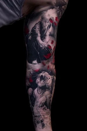 For more of my tattoos, check out www.instagram.com/bacanubogdan or www.Facebook.com/bacanu.bogdan.7 #BacanuBogdan #tattoooftheday #tattoo #blackandgrey #realism #realistic #tattooartist #sleeve