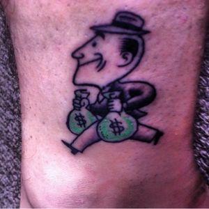 #moneybags #ankletattoo #moneytattoo