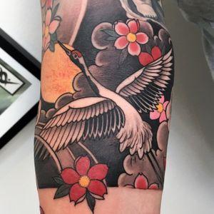 Little crane😀 #tattoodo #wearesorrymom #inkjecta #killerinktattoo