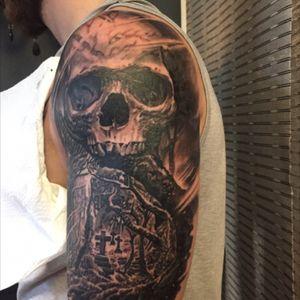 #skull #forest #grave
