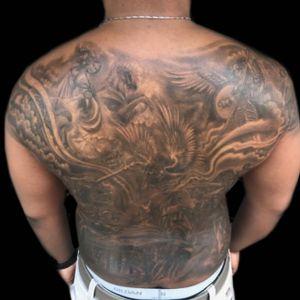 Tattoo by PeeWee Sinerco. #peewee #peeweesinerco #sinerco #tattoo #tattoos #tat #tats #tatts #tatted #tattedup #tattoist #tattooed #tattoooftheday #inked #inkedup #ink #tattoooftheday #amazingink #bodyart #tattooig #tattoososinstagram #instatats #westbury #larktattoowestbury #sevendeadlysins #sevendeadlysinstattoo #religioustattoo #fullbacktattoo #fullbackpiece #blackandgraytattoo #blackandgreytattoo #bnginksociety #bng #bngsociety #bngtattoo #bngink #bngtattoos