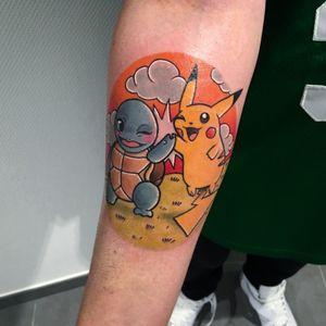 High five ! #squirtle #Pikachu #pokemon #pokemontattoo #nantes #nourstattoo #tattoo #mangatattoo #mangaanime #kawaiitattoo #kawaii