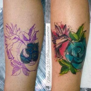 #tattoo #coverup #watercolortattoo #samuka #thesiamesetattoo #braziliantattooartist