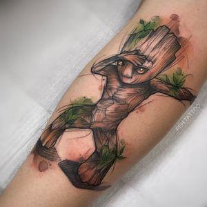 Reh Tattoo 🇧🇷 #tatuadorasdobrasil #groot #nerd #geek #filmes #RehTattoo