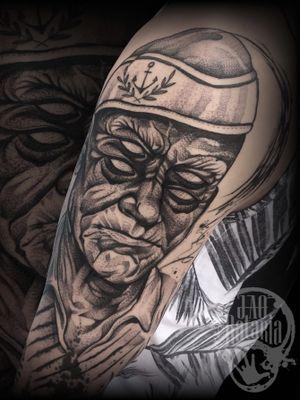 Essa foi mais uma das tattoos q rolaram em Rio Verde-Go na última passada por lá, parte de um fechamento de braço que tive total liberdade de criação e aplicação, satisfação! #rataria #tattoo #blackwork #blackworkers #blackworkerssubmission #ttblackink #onlyblackart #theblackmasters #tattooartwork #inkstinct #inkstinctsubmission #superbtattoos #wiilsubmission #stabmegod #tattoos_artwork