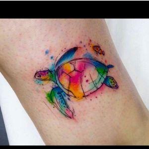 #tortoise #tattooaquarela #OceanTattoo #sea