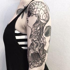 INSTAGRAM: @massimogurnari #massimogurnari #tattoodo #inked #massimogurnaritattooing #milano #thesaintmariner #etchingtattoo #blacktattooartist #blacktattooart