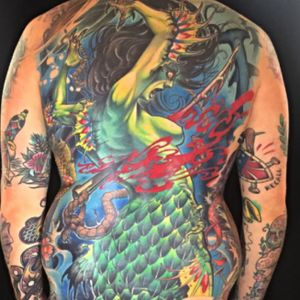 Mermaid back @deadlytattoos @goodguysupply @inkjecta
