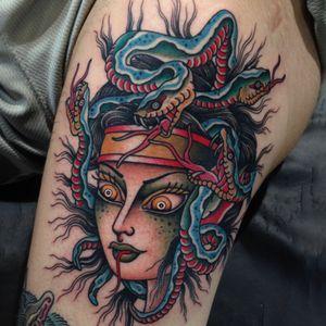 Medusa. Done at @Captured_Tattoo.