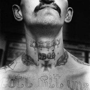 #prisoner #prisontattoos #prison #blackandgrey #necktattoos